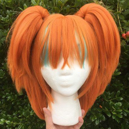 Neon cosplay wig