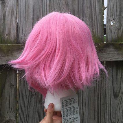 Sakura cosplay wig back view