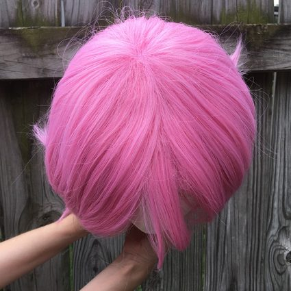 Sakura cosplay wig top view