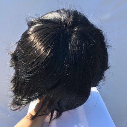 Aizawa cosplay wig top view
