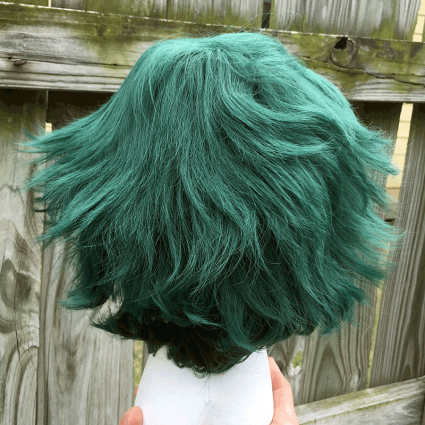 Deku wig back view