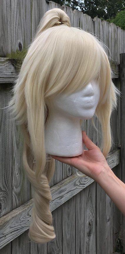 High Kick cosplay wig with single ponytail