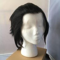 black steel lacefront wig