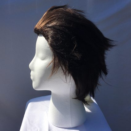 Terra cosplay wig side view