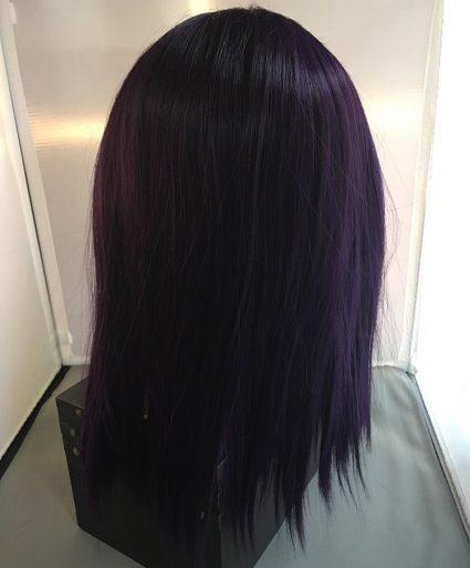 Raven Wig Back