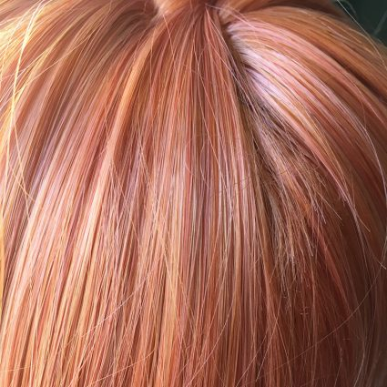 Sayori wig closeup