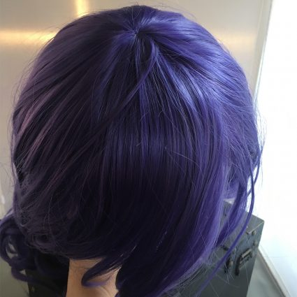 Rarity cosplay wig top view