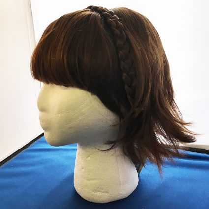 Makoto Niijima cosplay wig side view with braid