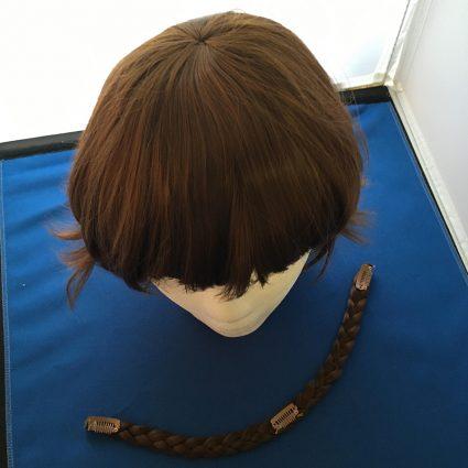 Makoto Niijima cosplay wig top view