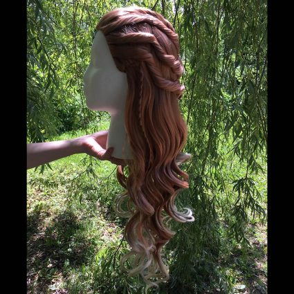 Aloy cosplay wig side view