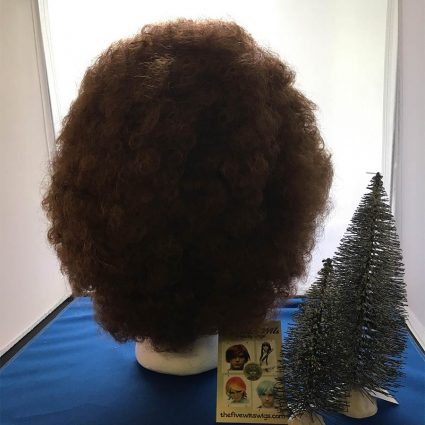 Bob Ross cosplay wig back view