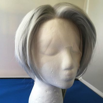 Victor cosplay wig lacefront hairline view