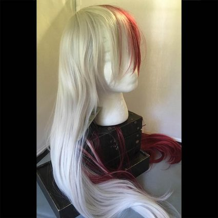 Shota cosplay wig white side view