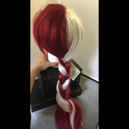 Shota cosplay wig braided view