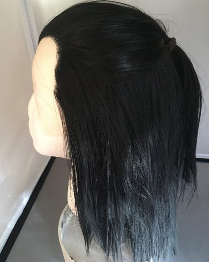 Black lacefront in ponytail