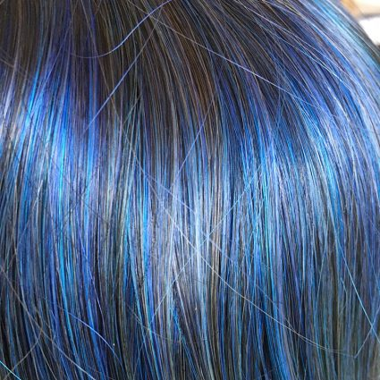Jester wig closeup