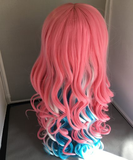 Trans flag wig-back view
