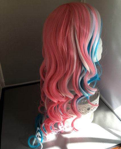 Trans flag wig right side view