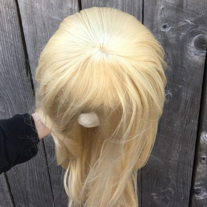 She-Ra cosplay wig top view
