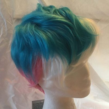 short trans wig side view