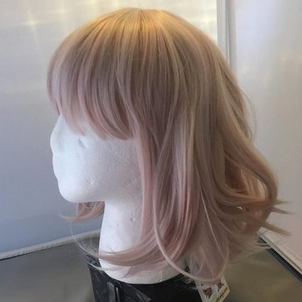 soft cosplay wig side view
