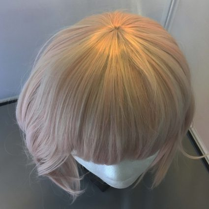 soft cosplay wig top view