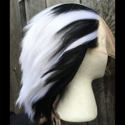Bokuto cosplay wig side view 2