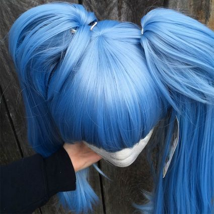 Lily cosplay wig top view