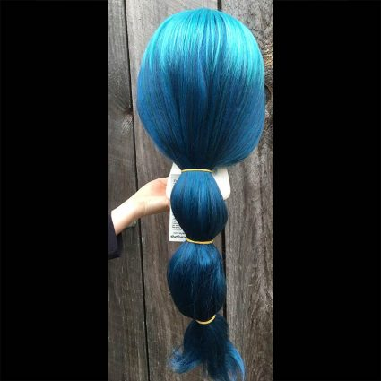 Mermista cosplay wig back view