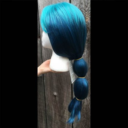 Mermista cosplay wig side view