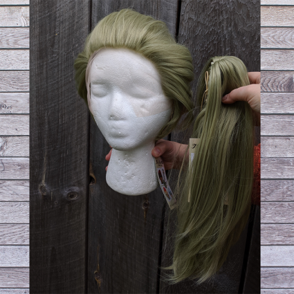 Prom Zombie cosplay wig ponytail view