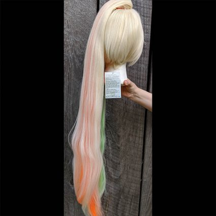 Saki cosplay wig back view