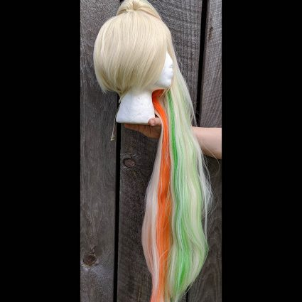Saki cosplay wig side view