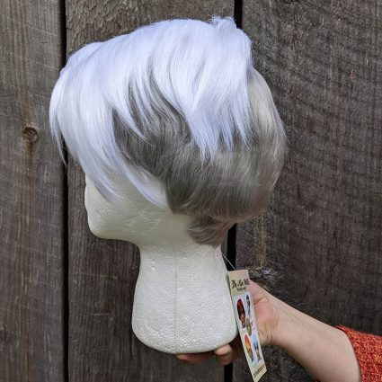 Scorpia cosplay wig left side view