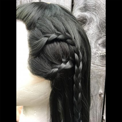 Yasha cosplay wig braid view 1
