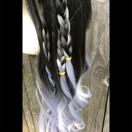 Yasha cosplay wig braid view 2
