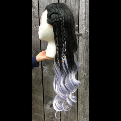 Yasha cosplay wig side view 1