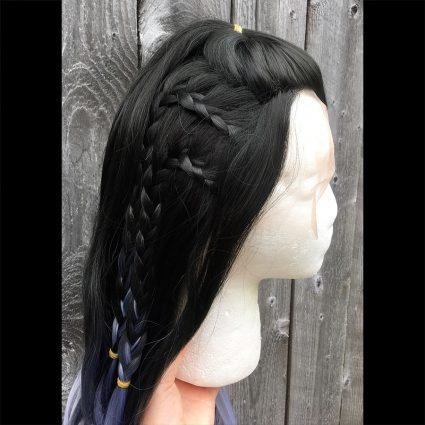 Yasha cosplay wig side view 2