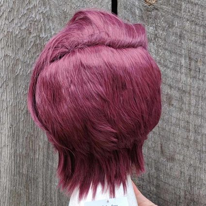Seahawk cosplay wig back view