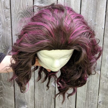 Liv cosplay wig top view