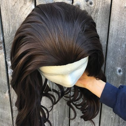 Beau cosplay wig top view