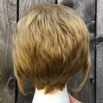Steve cosplay wig back view