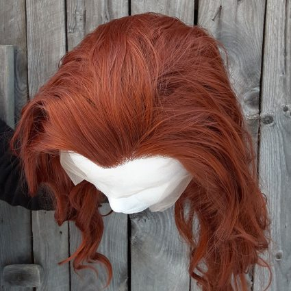 Crowley cosplay wig top view