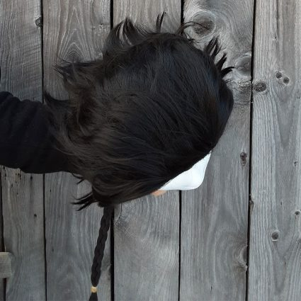 Claud cosplay wig top view