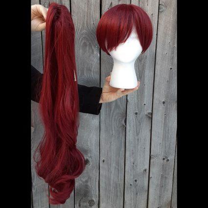 Yoshizawa cosplay wig tail view