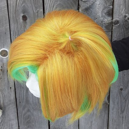 Hifumi Izanami cosplay wig top view