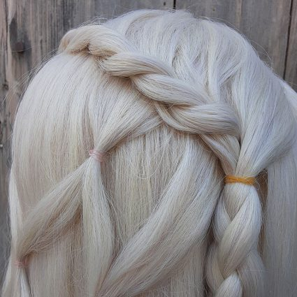 Brea cosplay wig braids view