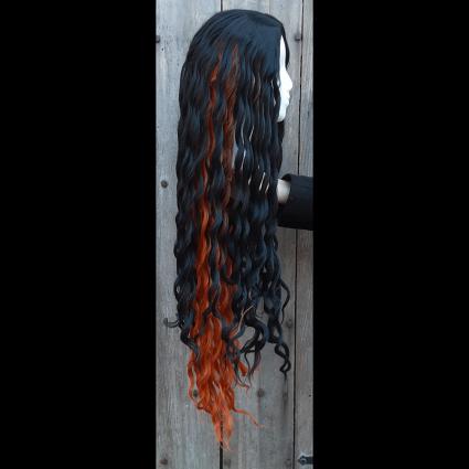 Nezuko cosplay wig side view