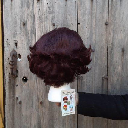 Tanjiro cosplay wig back view
