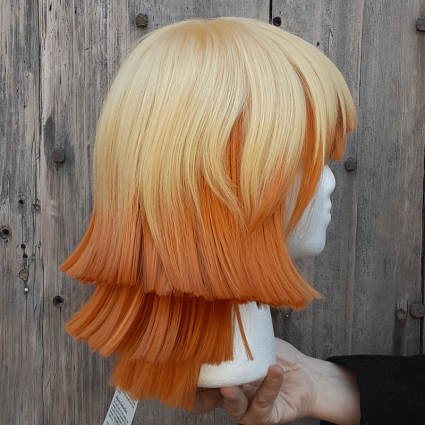 Zenitsu cosplay wig side view